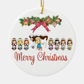 12 Days of Christmas Round Ceramic Decoration