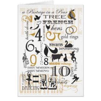 12 Days of Christmas Greeting Card