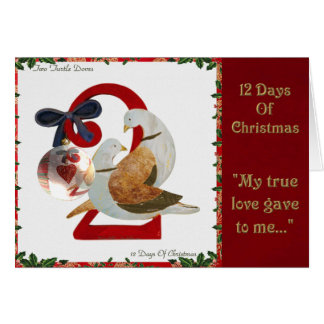 12 Days of Christmas Two Turtle Doves Card