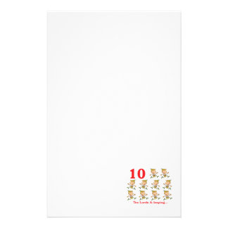 12 days ten lords a-leaping personalised stationery