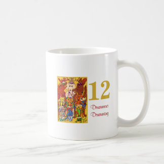 12 Drummers Drumming Cute Animals &Typography Coffee Mug