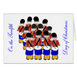 12 Drummers Drumming Greeting Card