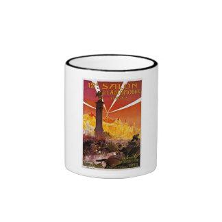 12 e Salon de L'Automobile et du Cycle 1910 Ringer Coffee Mug