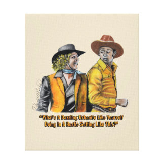 12 Exclusive Blazing Saddles Canvas Print