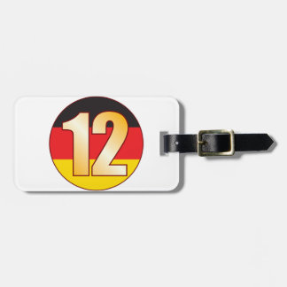 12 GERMANY Gold Luggage Tag