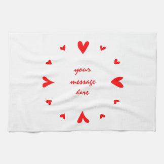 12 hearts kitchen towels