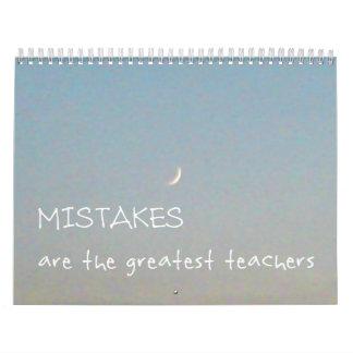 12 Mistakes 2017 Inspirational Calendar