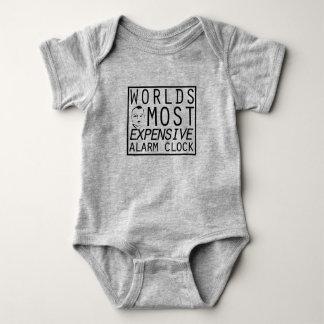 12 Month bodysuit - baby alarm clock