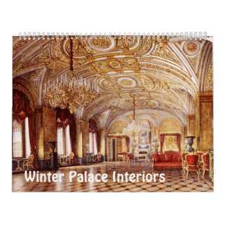 12 month Interiors of Winter Palace Calendar