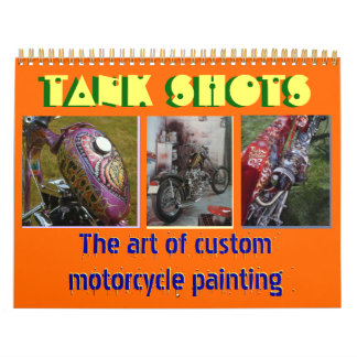 12 months 2013 custom motorcycle painting midi sz wall calendars