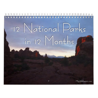12 National Parks in 12 Months, 5th Edition Wall Calendars