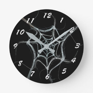 12 Number Choices to Choose From Black Web Clock