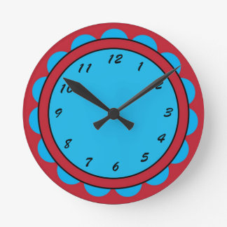 12 Number Choices to Choose From Red Blue Clock