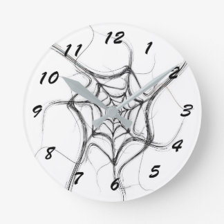 12 Number Choices to Choose From White Web Clock