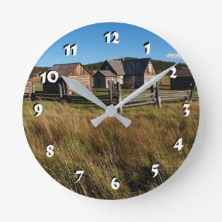 12 Number Choices to Choose --Log Cabin Clock