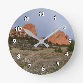 12 Number Choices to Choose --Red Rocks Clock