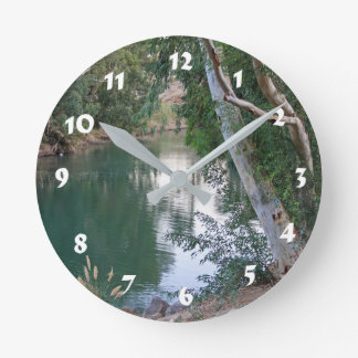12 Number Choices to Choose --River Round Clock