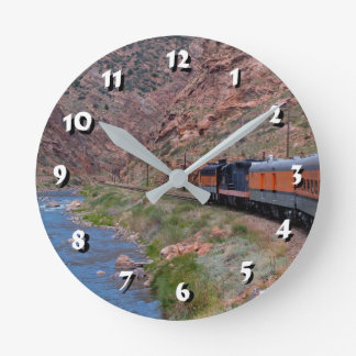 12 Number Choices to Choose -Train-Clock Round Clock
