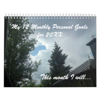 12 personal goals for the New Year inspirational Wall Calendars