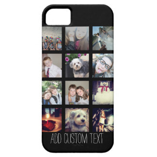 12 Photo Instagram Collage with Black Background iPhone 5 Case
