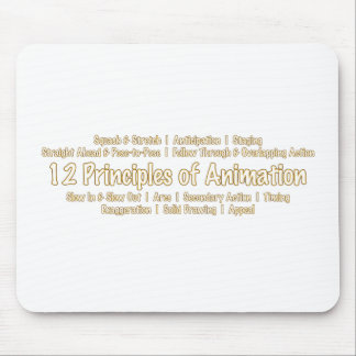12 Principles of Animation for Animators Design Mouse Pad