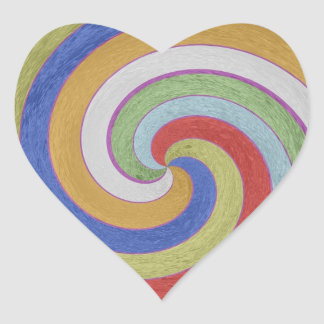 12  PURE Energy Vibes Aura Cleaning Spectrum Heart Sticker