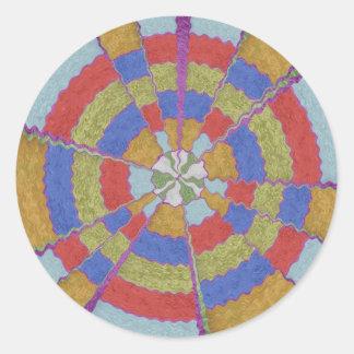 12  PURE Energy Vibes Aura Cleaning Spectrum Round Sticker