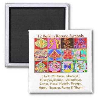 12 Reiki n Karuna Reiki Healing Designs Magnet