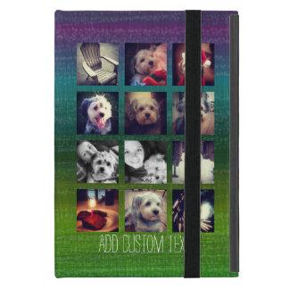 12 square instagram photo collage colourful design iPad mini cover
