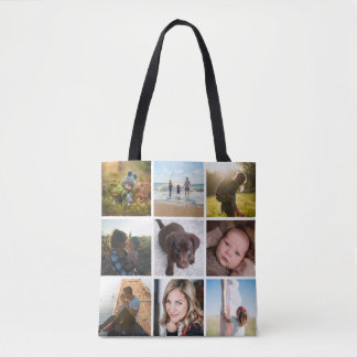 12 Square Photo Collage or Instagram Photo Tote Bag