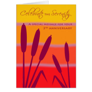 12 Step Birthday Anniversary 3 Years Clean Sober Card