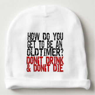 12-Step Recovery Oldtimer Old Timer Joke Baby Beanie