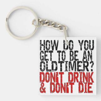 12-Step Recovery Oldtimer Old Timer Joke Key Ring