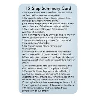 12 Steps Summary Card Magnet