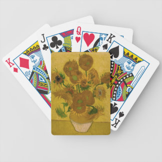12 Sunflowers Bicycle Playing Cards