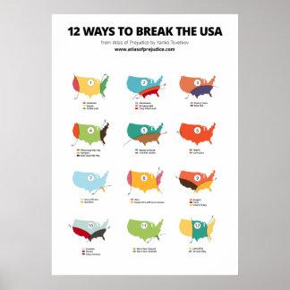 12 Ways to Break the USA Poster