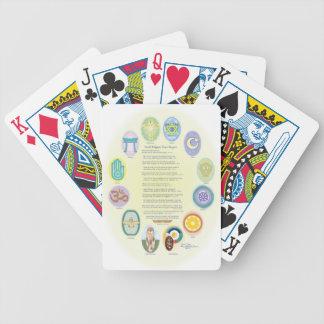 12 World Religion Symbols & Prayer Poker Deck