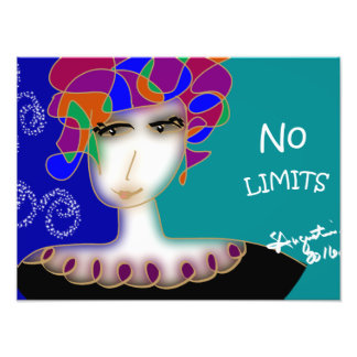 "12""x16"" NO LIMITS original artwork print Photo Print"