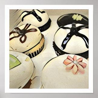 "12"" x 12"" Cupcake Poster - Sepia"