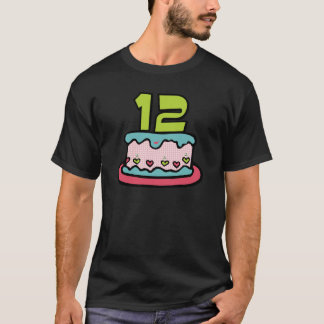 12 Year Old Birthday Cake T-Shirt