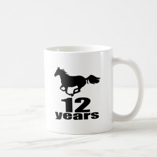 12 Years Birthday Designs Coffee Mug