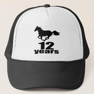 12 Years Birthday Designs Trucker Hat