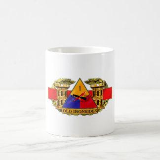 12B 1st Armored Division Basic White Mug