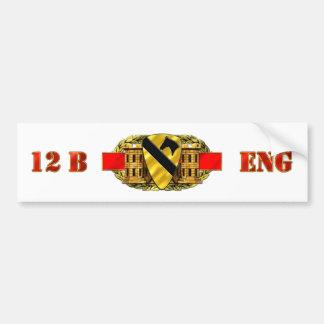 12B 1st Cavalry Division Car Bumper Sticker