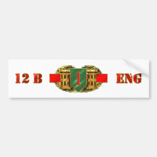 12B 1st Infantry Division Bumper Sticker