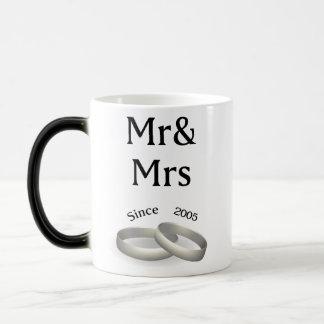 12th anniversary matching Mr. And Mrs. Since 2005 Magic Mug