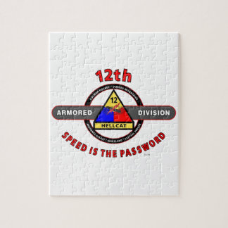 "12TH ARMORED DIVISION""SPEED IS THE PASSWORD"" JIGSAW PUZZLE"
