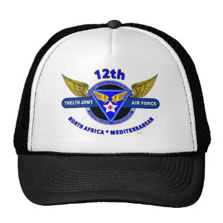 "12TH ARMY AIR FORCE ""ARMY AIR CORPS "" WW II MESH HAT"