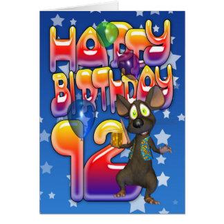 12th Birthday Card, Happy Birthday Card