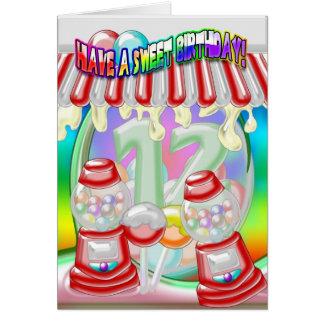 12th  Birthday Card - Sweet Birthday - Gumballs An